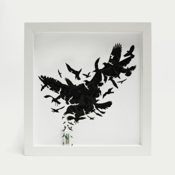 "Birds (limited edition paper artwork inspired by Hitchcock's ""The Birds"")"
