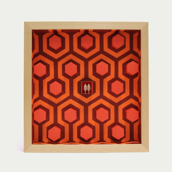 "RedRum (limited edition paper artwork inspired by Kubrick's ""The Shining"")"