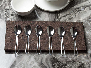 Outline Cutlery: 6 Polished Designer Espresso Spoons Dishwasher safe