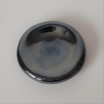 Pouf plate – metallic black mirror