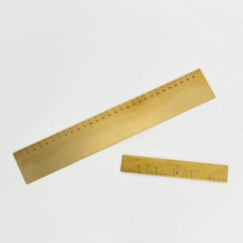 RULE, a minimal brass ruler set