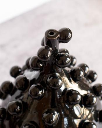 Black Teardrop Blob Vase