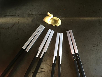 Aluminum & Ebony Chopsticks