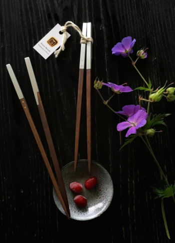 Aluminum & Ebony Chopsticks