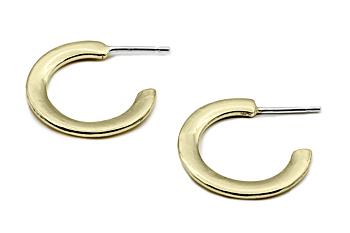 Classic Small Brass Hoop Earrings
