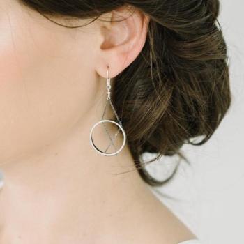 Inner Circle Earrings in Silver