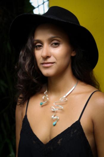 Turquoise Ribbon Necklace