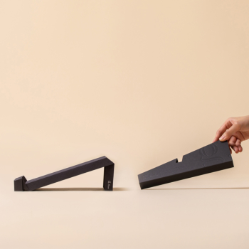 g.flow recycled paper: Black Foldable & Portable Laptop Stand