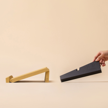 g.flow recycled paper: Mustard Foldable & Portable Laptop Stand