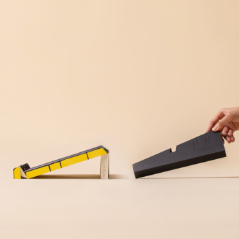 g.flow recycled paper: The Pyramid's Maze, Art Edition, Foldable & Portable Laptop Stand