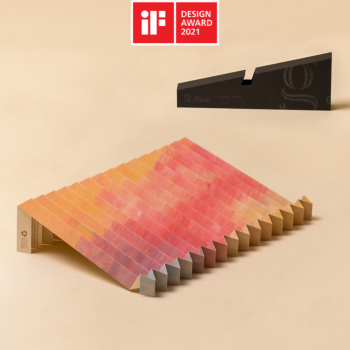 g.flow recycled paper: Sunset, Art Edition, Foldable & Portable Laptop Stand