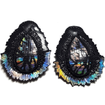 PRINTED HOLOGRAPHIC EARRING 2