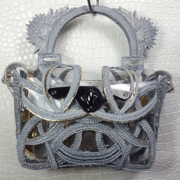 PRINTED HANDBAG GREY