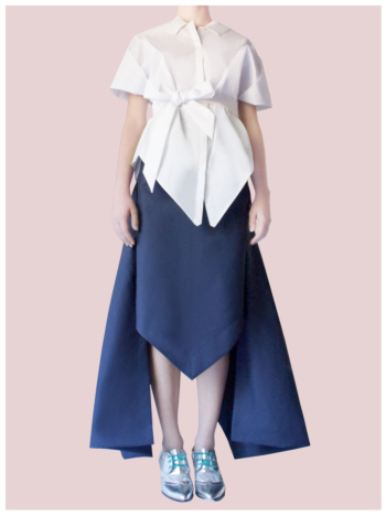 [ Origami Long Peacock Skirt ]
