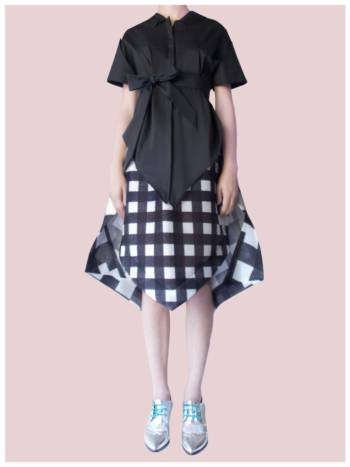 [ Origami Puffy Peacock Skirt ]
