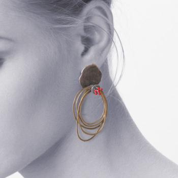 Hoop Red Mebae earrings