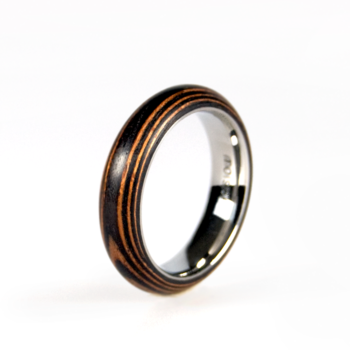 'second life' Slim wooden ring - Tiger