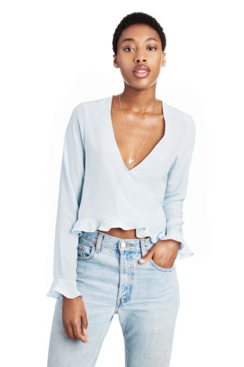 Two Way Wrap Top Blue