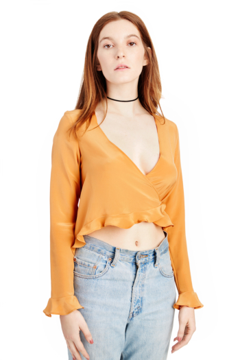 Two Way Wrap Top Orange