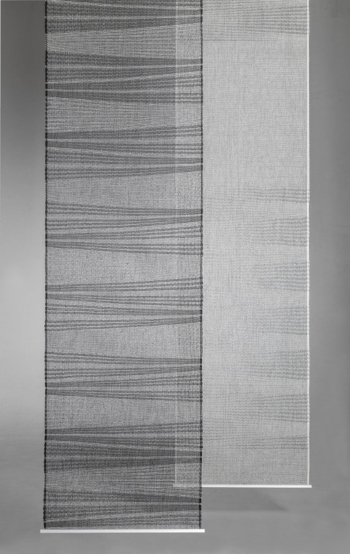 UNEVEN - EVEN, room divider / wallhanging in paper yarn. HANDWOVEN.