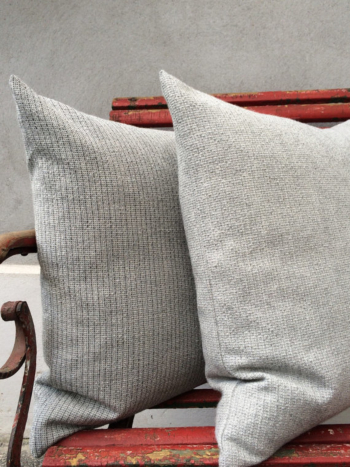 Dusty Greys - babyalpaca pillows - HANDWOVEN