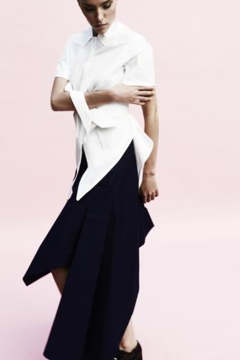 [ Origami Long Peacock Skirt ]