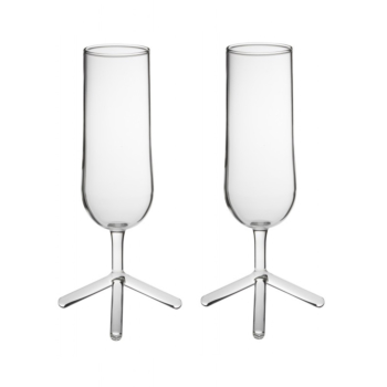 2 pieses LOUISE tripod champain glasses