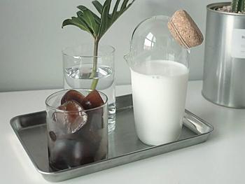 JULIE water carafe 0,8 liter / 0,2 gallon set