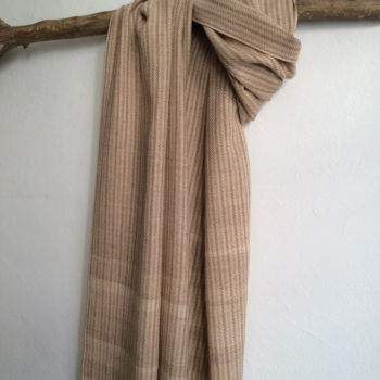 Earthy Shades - handwoven scarve in 100% organic colorgrown cotton