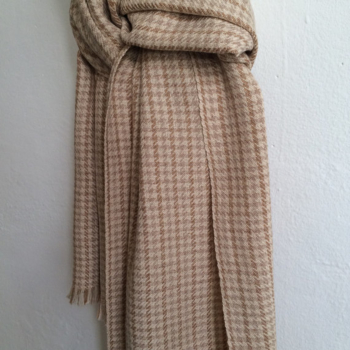 Earthy Shades - handwoven scarve in colorgrown cotton, 100% organic