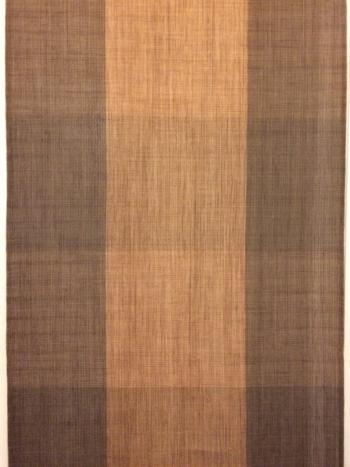 CORTEZAS, kakishibu, persimmon dyed wallhanging / room divider. HANDWOVEN