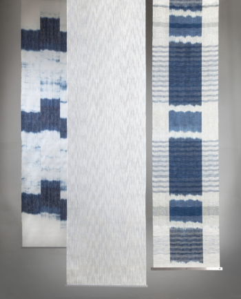 Marea Azul - handwoven room divider / wallhanging in linen.