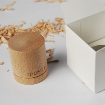 'second life' Slim wooden ring - Squirrel