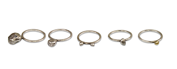Silver 5set Seed Ring