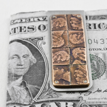 Abe Patchwork Money Clip