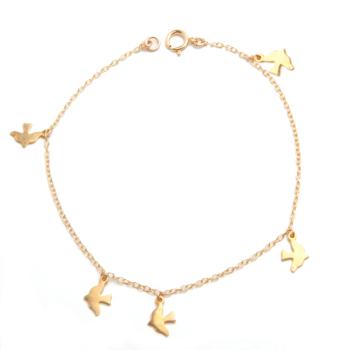 Gold Dickie Bird Charm Bracelet