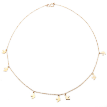 Gold Dickie Bird Charm Necklace