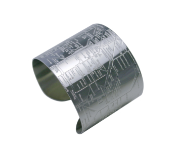 Berlin RouteMap Cuff (embossed)