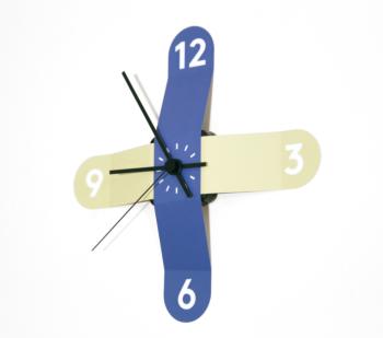 Sticker Clock- Blue and Green