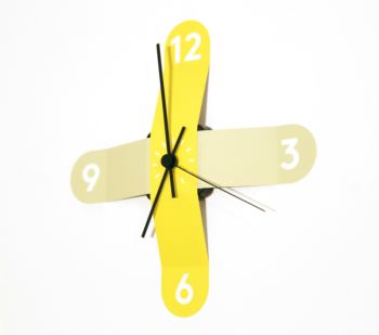 Sticker Clock- Green and Yellow