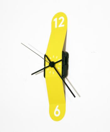 Sticker Clock- Yellow