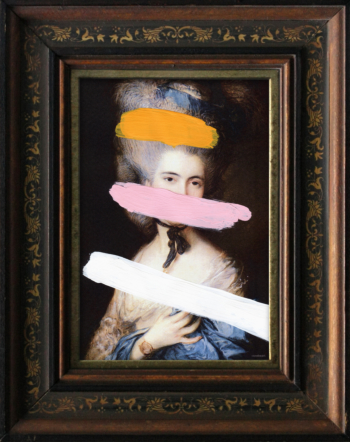 Small Portrait Of A Lady Printed Frame