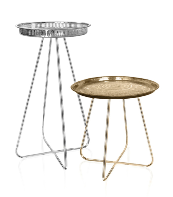 New Casablanca Table Tall (Brass Legs)