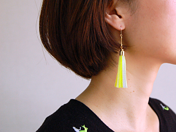 staRef Comet earrings : Pink×White