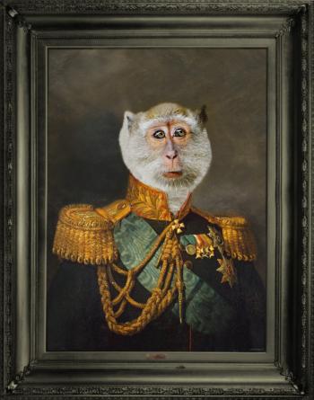 'Duke Gibson' Wallart Canvas with printed frame