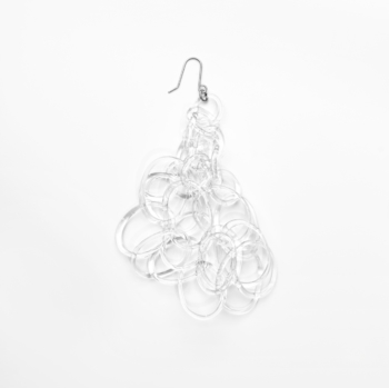chandelier earring (large) -CLEAR