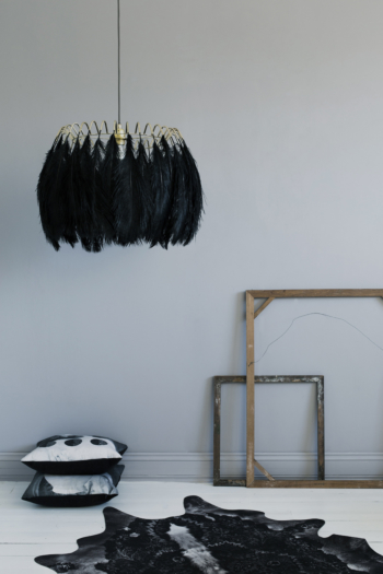 Feather Pendant Lamp Black