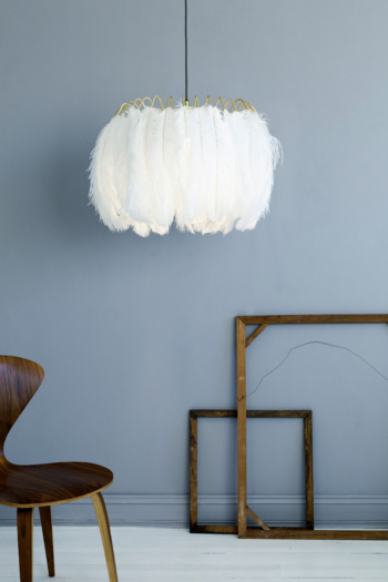 Feather Pendant Lamp White