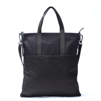 minimal tote bag black