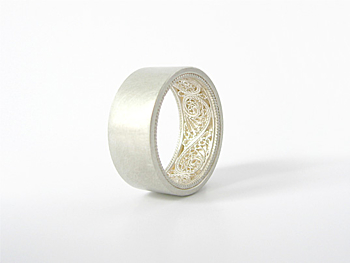 Filigree ring silver